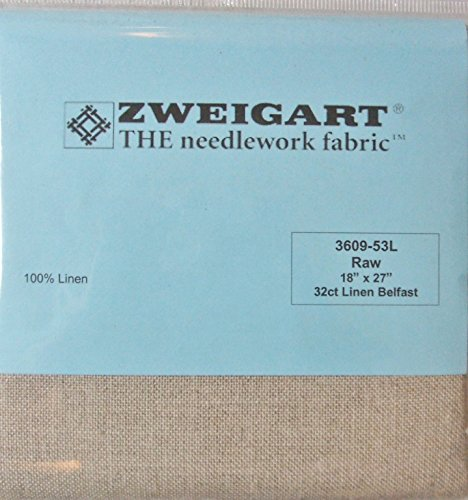 32ct Natural Linen (100% Linen Belfast Raw 32 Ct 18