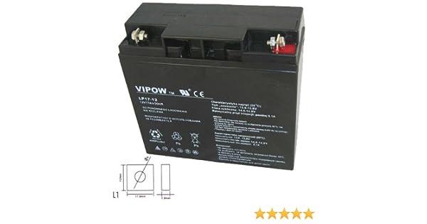 Vipow - Batería de Movilidad 12V 17Ah Para silla de ruedas eléctrica. Bateria de ciclo profundo de gel. Pila recargable: Amazon.es: Bricolaje y herramientas