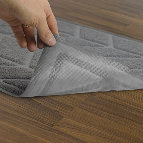 51sgW0nUkdL - Alpine Neighbor Cat Litter Mat by XL Jumbo Size for Clean Floor Decorative Chevron Design Cover Extra Large Kitty Litterbox Covered Furniture Tray Small Dog Pet Rug Water Food Cleaning Top Paw Pad