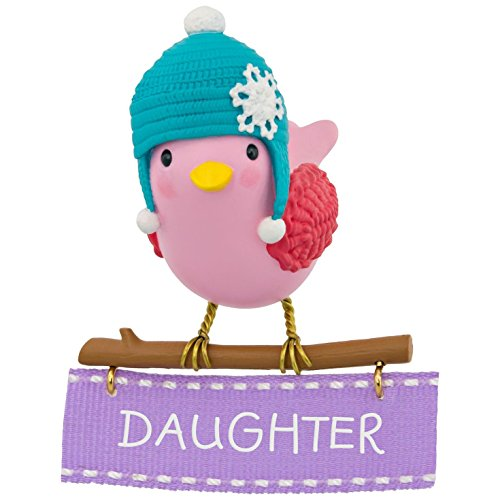 Hallmark Keepsake 2017 Winter Bird Daughter Christmas Ornament (Babys First Christmas Hallmark Ornament)