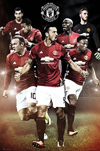 Manchester United - Soccer Poster / Print (Ibrahimovic - Season 2016 / 2017) (Size: 24