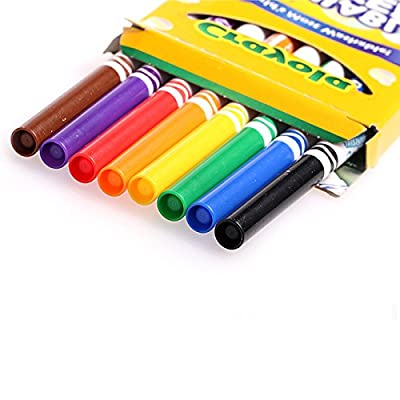 Crayola 8ct Washable Markers Fine: Toys & Games
