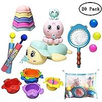 JollySweets Bath Toys Set for Boys Girls 20PCS, Squirting...