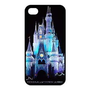 USTYLE 's Custom Design Hard Silicone Cover Case for iPhone 4 4s - Castle Princess