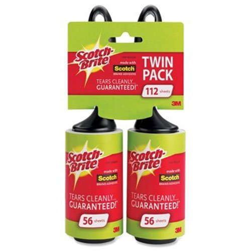 - Scotch-Brite Lint Roller, Twin Pack, 56 Sheets/Roller (112 Sheets Total)