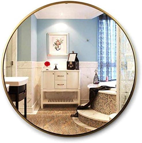 日用品 アルミ合金ラウンドフレームゴールデンウォールメイクバニティミラーミディアム(:80センチメートルサイズ)とフローティングバスルームの鏡 (Size : 40cm)