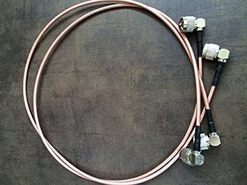 Cable de empalme coaxial profesional Conectores pl a 90 ...