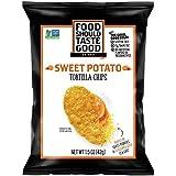 Food Should Taste Good Sweet Potato Tortilla Chips, 1.5 Ounce -- 24 per case.