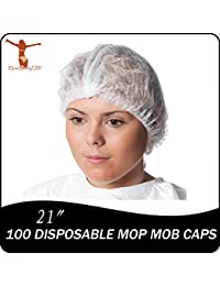 Get 100 disposable mop mob caps clipped hair head cover net for salon or spray tan deliver