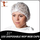 100 disposable mop mob caps clipped hair head cover net for salon or spray tan