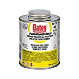 Oatey 31912 LO-V.O.C. CPVC Flowguard Gold 1-Step Yellow Cement, 16-Ounce