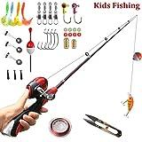 Kids Fishing Pole Beginner's Starter Fishing Kit Children Gifts Fishing Rod Full Set Light and Comfortable