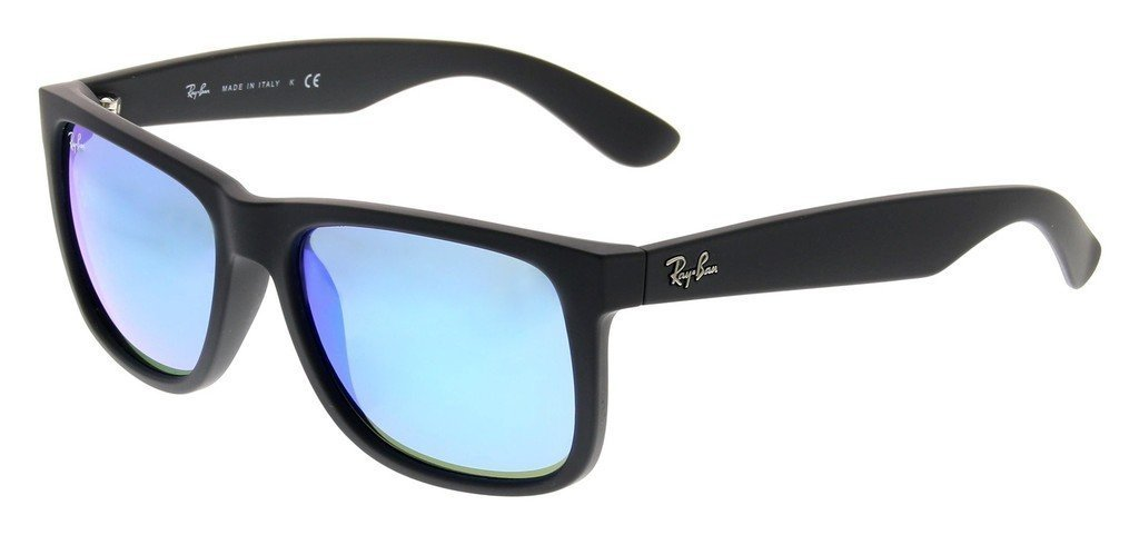 Ray Ban RB4165 622/55 51mm Black Rubber/Blue Mirror Justin Bundle-2 Items