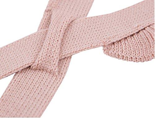 Chulianyouhuo Baby Girls Knitted Ruffle Cute Romper Cross Bandage Jumpsuit Bodysuit by Chulianyouhuo (Image #4)