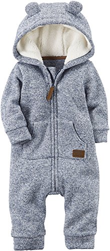 Carter's Baby Boys' Hooded Sherpa Jumpsuit