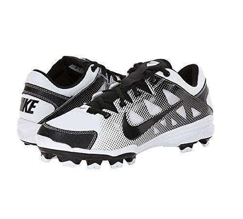 Nike Womens Hyperdiamond Geslagen Softbal Schoenplaatjes Wit / Zwart