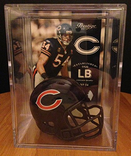 Chicago Bears NFL Helmet Shadowbox w/ Brian Urlacher card
