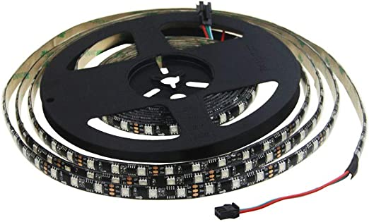 16Ft 5050 WS2811 RGB Dream Color 150LEDs Strip Light Waterproof IP67 Black Board