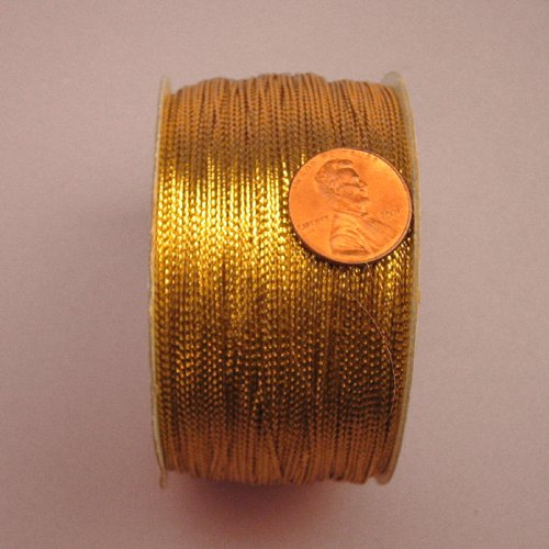Gold Metallic Cord, 1mm X 144Yd (Twine Tinsel)