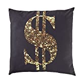 OCM Erin Andrews Collection Dollar Sign Sequin Pillow