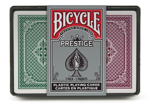 Bicycle Prestige Playing Cards (Pack of 2), Narrow Jumbo Index (Prestige Bicycle Cards)