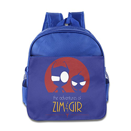 KIDDOS Infant Toddler Kids Zim Gir Cartoon Poster Backpack Bag, RoyalBlue