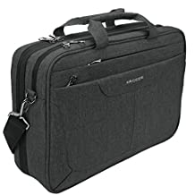 KROSER Laptop Messenger Bag 15.6 inch Tablet Briefcase Water Repellent Computer Case Sleeve for College/School/Business/Women/Man with RFID Pockets and Checkpoint Friendly Laptop Bag-DarkGrey
