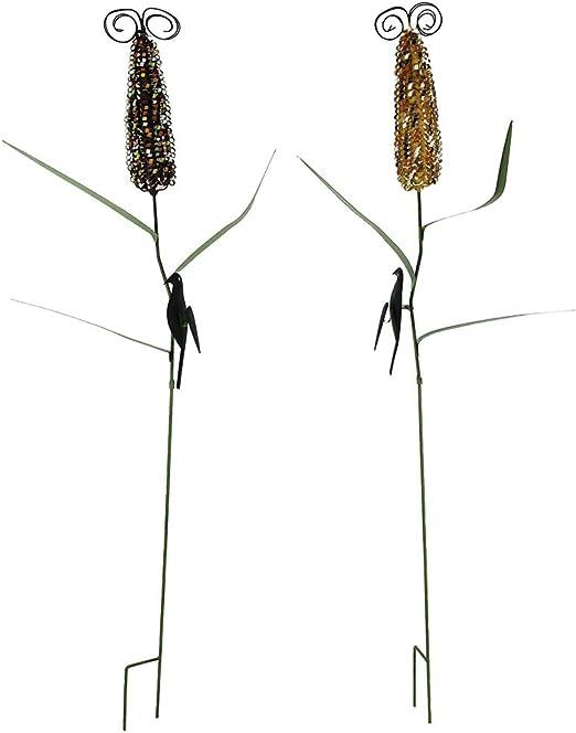 Distintivo diseños, estacas de Metal para jardín, Juego de 2 estacas de Metal, 16, 5 x 41, 5 x 7, 62 cm: Amazon.es: Jardín