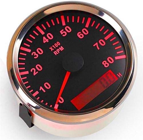 L.P.L ボートのための85ミリメートルGPS速度、加速度0-30knots高速走行距離計は、毎時0〜50キロ防水デバイスコグゲージ (Color : 8000RPM black 2, Size : フリー)
