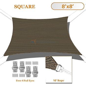 San diego sail shades 8 39 x8 39 square sandy for Shade cloth san diego