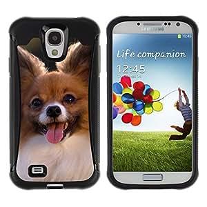 Suave TPU GEL Carcasa Funda Silicona Blando Estuche Caso de protección (para) Samsung Galaxy S4 IV I9500 / CECELL Phone case / / Papillon Chihuahua Dog Small Canine /