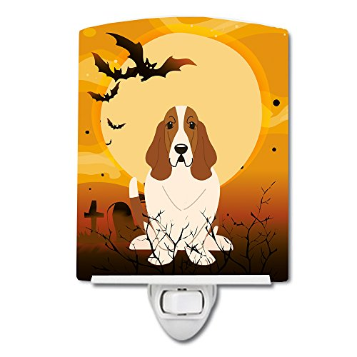Caroline's Treasures Halloween Basset Hound Ceramic Night Light 6x4 Multicolor]()
