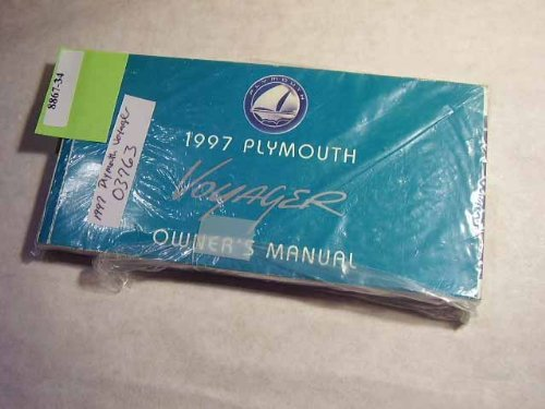 1997 Plymouth Voyager Owners Manual (Plymouth Voyager Manual)