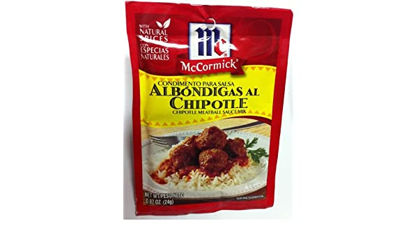 Amazon.com : McCormick Chipotle Meatball Sauce Mix (Condimento Para Salsa Albondigas Al Chipotle) : Grocery & Gourmet Food