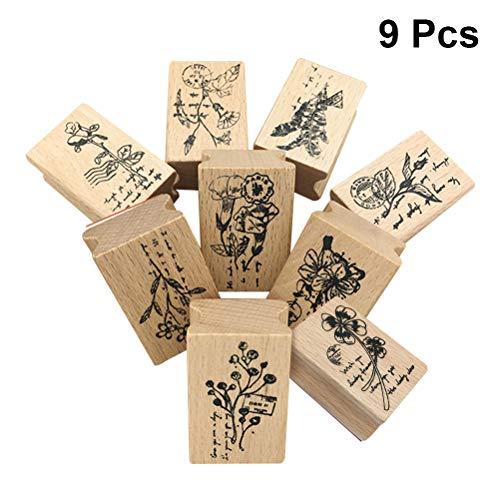 Postmark Originals (Vosarea Original Kid DIY Stamper Postmark Stamper Children DIY Craft Party Gifts 9 Pcs)