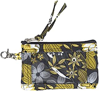 product image for Zip ID & Key by Stephanie Dawn, Made in USA, Quilted Cotton Fabric, Accessory, Washable, Full Zipper Closure, Small Wallet Coin Purse, Metal Clasp