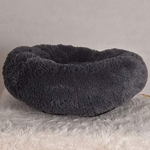 Black GaoMiTA Kennel, Cat Litter, Pet Supplies, Non-Removable Winter Warm Pet Nest Plush Kennel (color   Black)