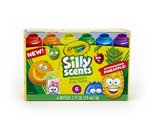 Scented Paint - Crayola Silly Scents, Washable Kids Paint, Scented Paint,  6 Count