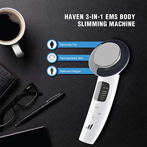 Haven 6 in 1 Body Slimming Machine– Rejuvenates Skin – Triggers Fat Removal from Belly and Waist -Beauty Massager for Face, Arms, Waist, Feet and Belly - LONG PRESS MODE KEY TO TURN ON