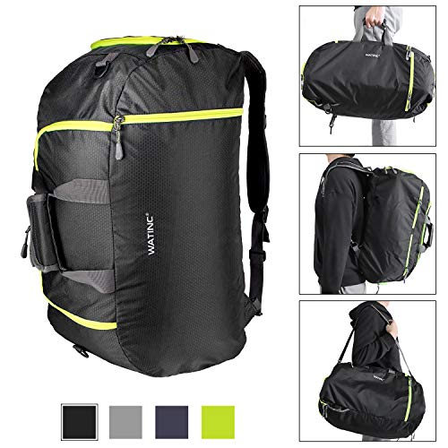 a4caa07f14fa WATINC 50L 3-Way Travel Duffel Backpack Luggage Gym Sports Bag with Shoe  Compartment(