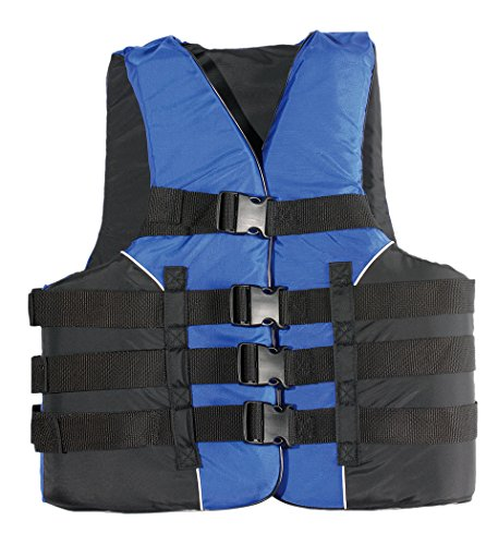 MW Adult 4-Buckle Life Jacket Ski Vest (L/XL) (4 Mens Buckle Vest)
