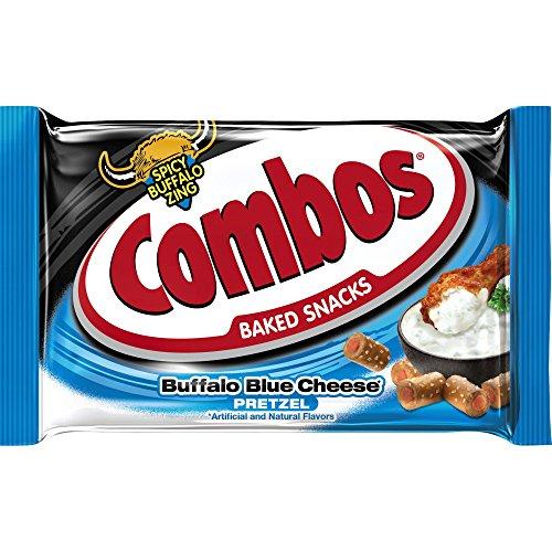 COMBOS Buffalo Blue Cheese Pretzel Baked Snacks 1.8-Ounce Bag 18-Count Box