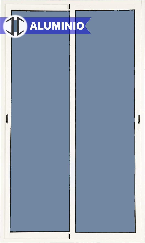 Balconera Aluminio Corredera 1200 ancho x 2000 alto 2 hojas y marco preparado en kit