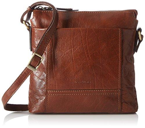 GERRY WEBER Lugano Shoulder Bag MV - Bolso de hombro de cuero mujer marrón - Braun (cognac 703)