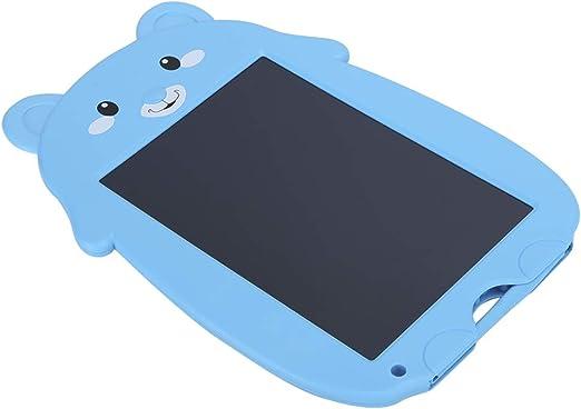耐久性のあるLCDソフトスクリーン電子ライティングボード、LCDライティングタブレット、8.5インチLEDのバックライトなしABS生徒の保護(Blue bear)