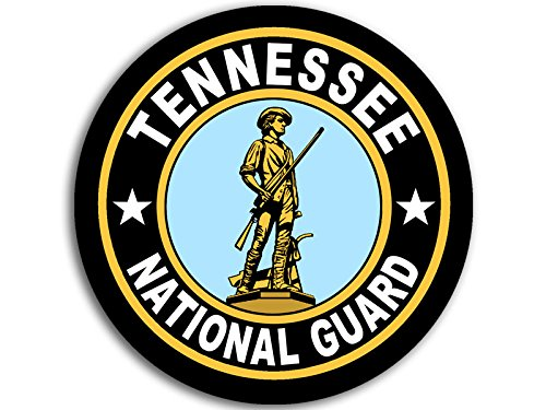 (American Vinyl Round Tennessee National Guard Seal Sticker (Logo Insignia Army))