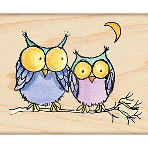 - Penny Black 4287H Moonlight Owls Wood Mounted Rubber Stamp