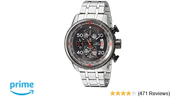 823b565419c Amazon.com  Invicta Men s 17204 AVIATOR Stainless Steel Casual Watch   Invicta  Watches