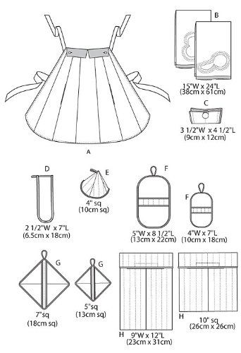 McCall's Patterns M6479 Apron, Towel, Bags and Potholders