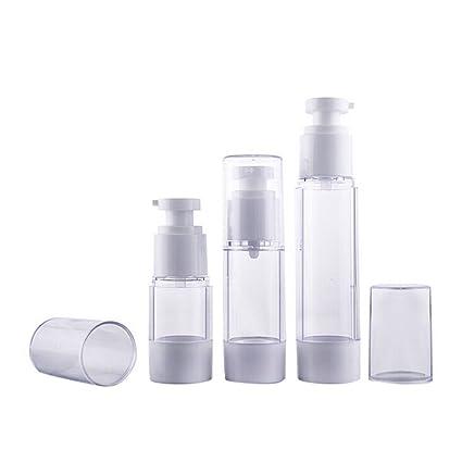 3 botellas vacías de plástico para cuidado de la piel (15 ml, 30 ml